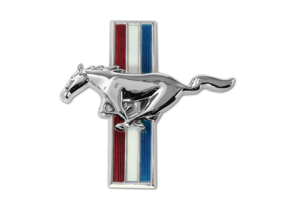 1965-1966 Mustang Glove Box Emblem Flat Pin On - Scott Drake