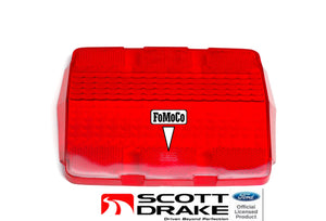 1964 1965 1966 Mustang Taillight Lens Show Quality (With Fomoco Logo) - Scott Drake