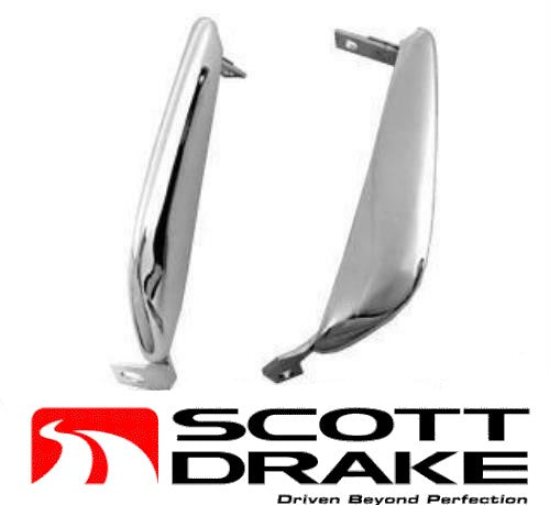 1964 1965 1966 Mustang Front Bumper Guards Pair - Scott Drake