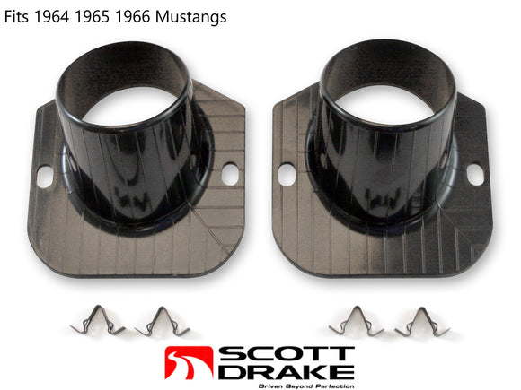 1964 1965 1966 Mustang Defroster Ducts & Clips Pair - Scott Drake