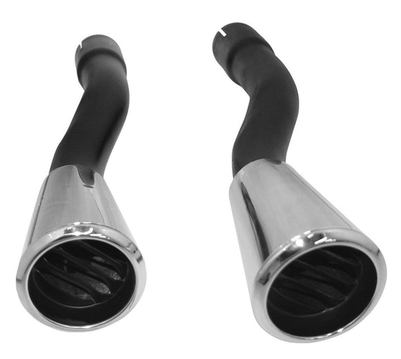 1965-1966 Mustang Concours GT Exhaust Tips (Pair) - Scott Drake