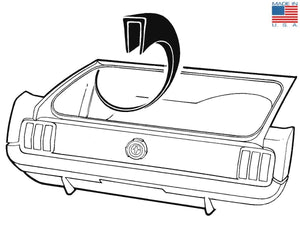1964 1965 1966 1967 1968 1969 1970 Mustang Trunk Wheelhouse Seam Cover - Daniel Carpenter