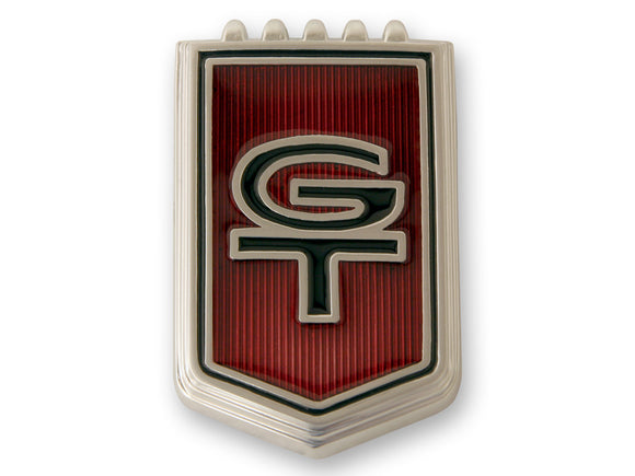 1966 Mustang Red GT Fender Emblem Pin On- Scott Drake