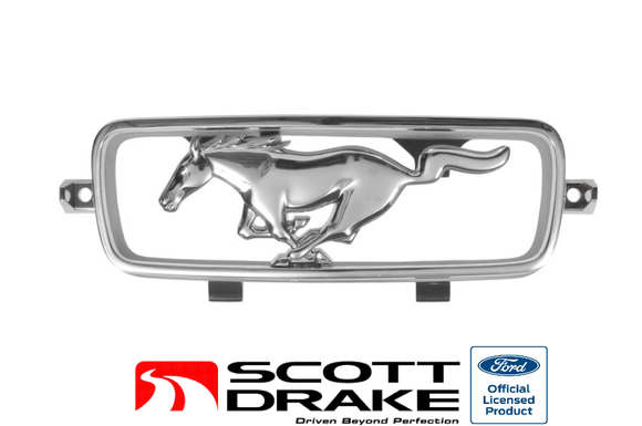 1966 Mustang with Fog Lights Horse & Corral Grille Ornament - Scott Drake