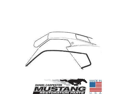 1969 1970 Mustang Fastback Roof Rail Weatherstrip Pair - Daniel Carpenter