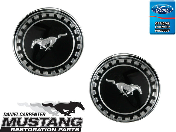 1969 Mustang Fastback Pillar Emblems Pair - Daniel Carpenter