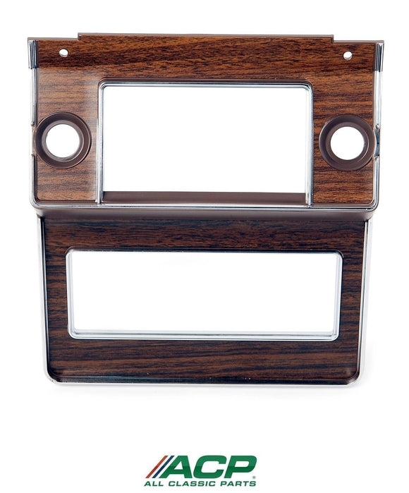1969 1970 Mustang Radio Bezel w/Walnut Woodgrain Applique - ACP