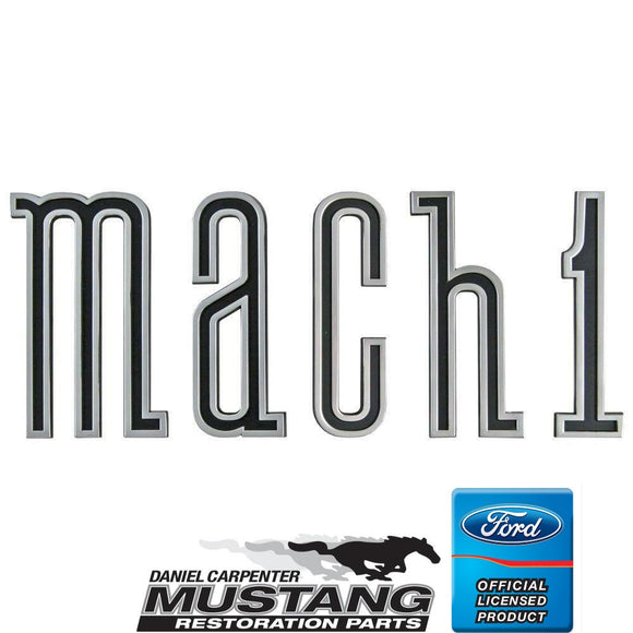 1970 Mustang Mach 1 Trunk Letter Set - Daniel Carpenter