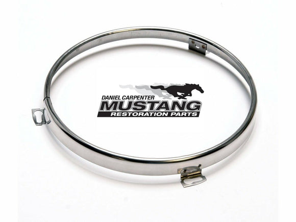 1965 1966 1967 1968 1970 1971 1972 1973 Mustang Headlight Bulb Retainer Ring - Daniel Carpenter