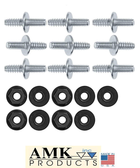 1969 Mustang Hood Scoop Stud Kit w/Nuts - AMK