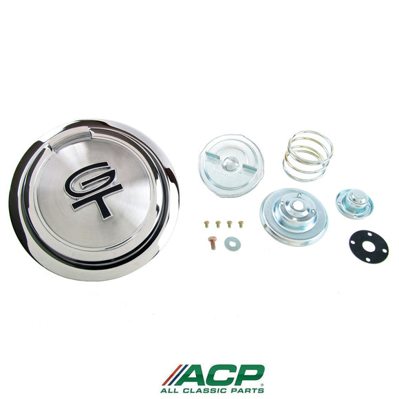 1967 Mustang GT Pop-Open Gas Cap Black - ACP