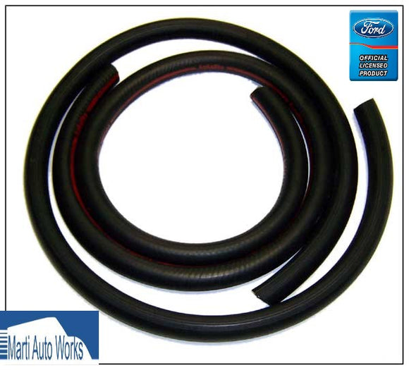 1970 Mustang Heater Hoses with Red Stripe (Built Before 2/1/70) - Marti Auto Works
