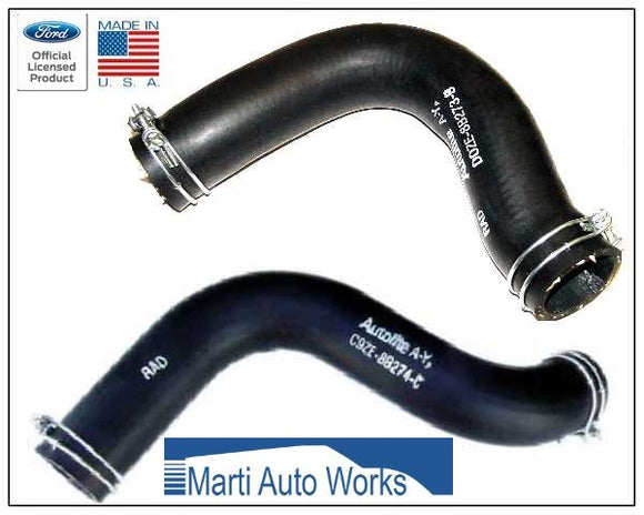 1970 Mustang 302 Boss 302 351W Radiator Hose Set Upper & Lower w/ Clamps - Marti Auto Works