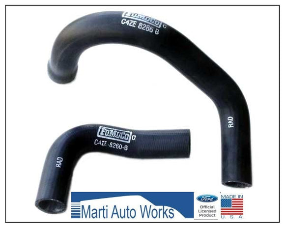 1964 1965 1966 1967 1968 1969 1970 Mustang 6 Cylinder Radiator Hose Set Upper & Lower - Marti Auto Works