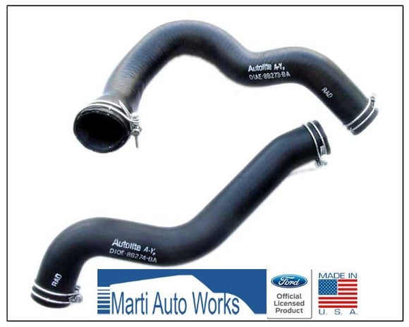 1971 Mustang Radiator Hose Set w/Wire Clamps 429 - Marti Auto Works