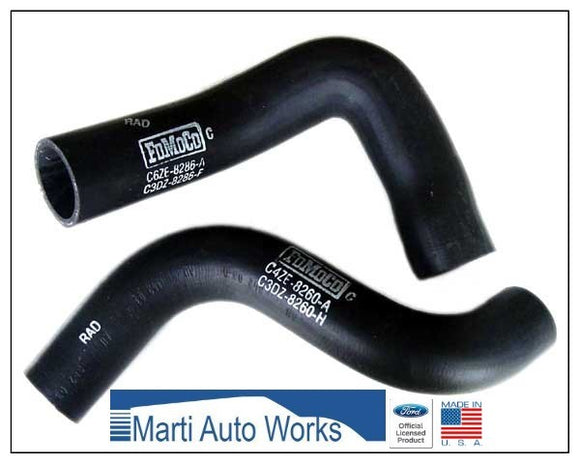 1966 Mustang 289/289HP Radiator Hose Set Upper & Lower - Marti Auto Works