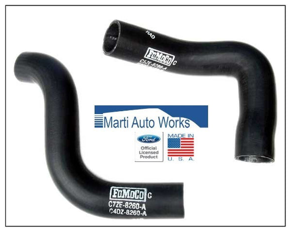 1967 Mustang 289 289 HiPo Radiator Hose Set Upper & Lower - Marti Auto Works