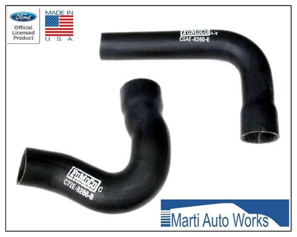 1967 Mustang 390 427 428 Upper & Lower Radiator Hoses - Marti Auto Works