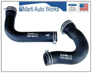 1969 1970 Mustang 390 428CJ Radiator Hose Set Upper & Lower w/ Clamps - Marti Auto Works