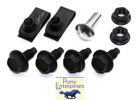 1965 1966 1967 1968 1969 1970 Mustang Battery Tray Mounting Kit - Pony Enterprise
