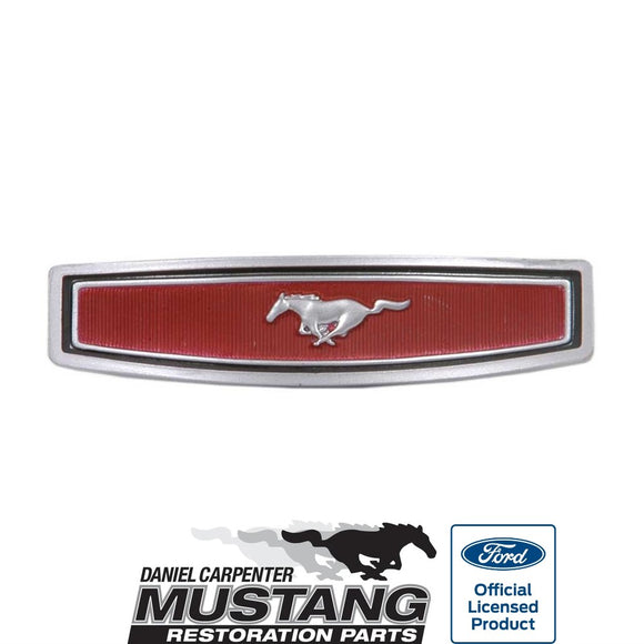 1969 1970 1971 1972 1973 Mustang 2 Spoke Steering Wheel Emblem - Daniel Carpenter