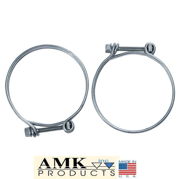 1965 1966 1967 1968 1969 1970 Mustang Fuel Filler Hose Clamps Pair - AMK