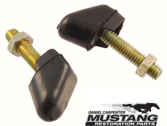 1965 1966 1967 1968 1969 1970 Mustang Fastback Rear Seat Stop Bumpers - Daniel Carpenter