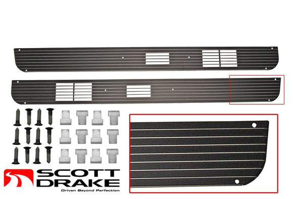 1967 1968 Mustang Deluxe Door Speaker Grills & Mounting Kit - Scott Drake