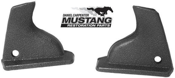 1969 1970 Mustang Fastback Interior Quarter Windlace Trim Caps - Daniel Carpenter