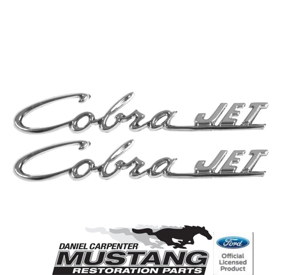 1969 1970 Mustang Cobra Jet Hood Scoop Emblem Pair - Daniel Carpenter