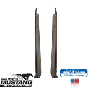 1971 1972 1973 Mustang Fastback Vertical Quarter Weatherstrip Pair - Daniel Carpenter