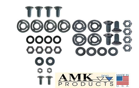 1965 1966 Mustang Front & Rear Bumper Hardware - AMK