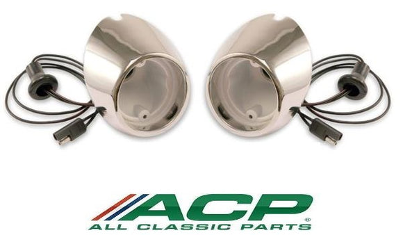 1967 1968 Mustang Backup Light Housing Pair - ACP
