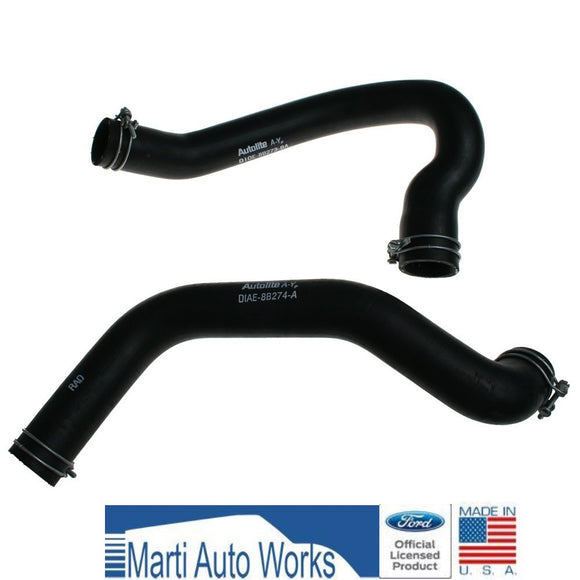 1971 Mustang 302 Radiator Hose Set Upper & Lower w/ Clamps - Marti Auto Works