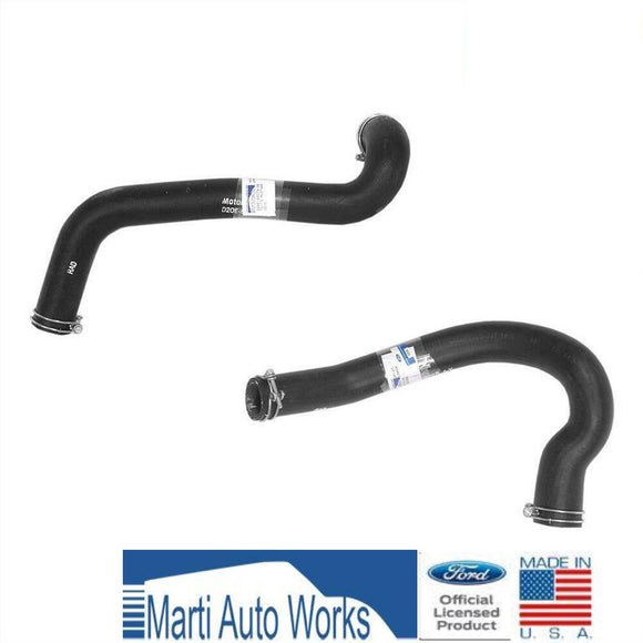 1972 1973 Cougar Mustang 351C Radiator Hose Set Upper & Lower w/ Clamps - Marti Auto Works