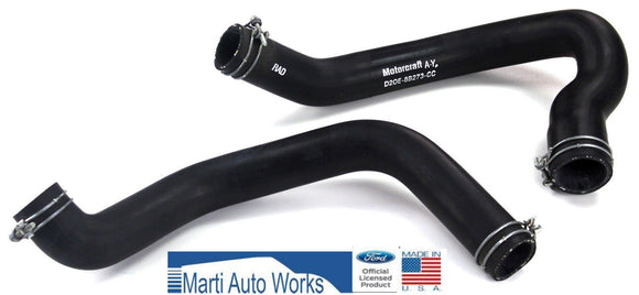 1972-1973 Mustang 302 Radiator Hose Set Upper & Lower w/ Clamps - Marti Auto Works