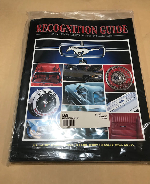 1965 - 1973 Mustang Recognition Guide New