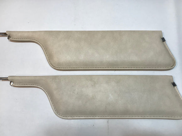 1967 1968 Mustang Convertible Sunvisors Parchment Used Original