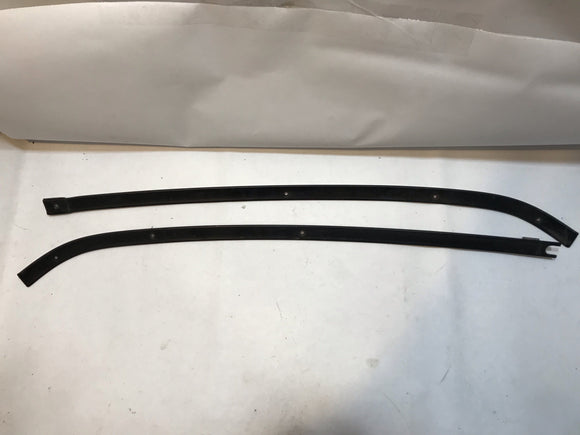 1965 1966 Mustang Upper Dash Pad Moldings Black Used Original