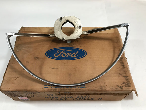 1968 1969 Ford Mercury Mustang Cougar Torino Ranchero Steering Wheel Horn Ring NOS