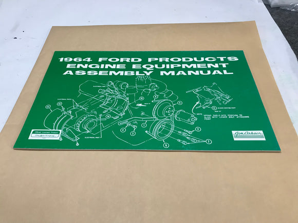 1964 Ford Mustang Engine Equipment Assembly Manual