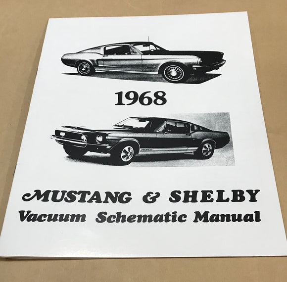 1968 Mustang and Shelby Vacuum Schematic Manual