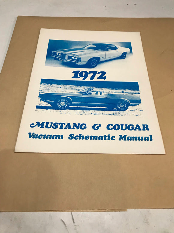 1972 Mustang & Cougar Vacuum Schematic Manual