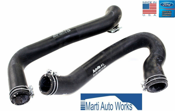 1971 Cougar Mustang 351C Radiator Hose Set Upper & Lower w/ Clamps - Marti Auto Works