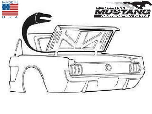 1965 1966 1967 1968 1969 1970 Mustang Coupe Convertible Trunk Weatherstrip - Daniel Carpenter