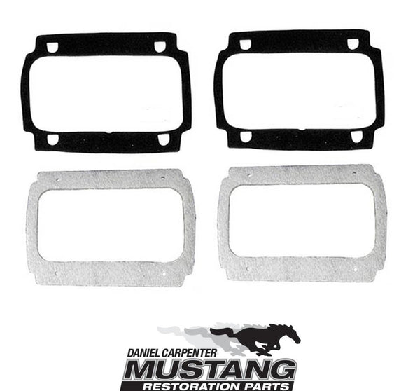 1965 1966 Mustang Taillight Lens & Body Gasket Kit - Daniel Carpenter