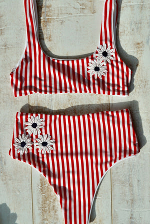 """Daisy"" Bardot two piece swim suit Separates"