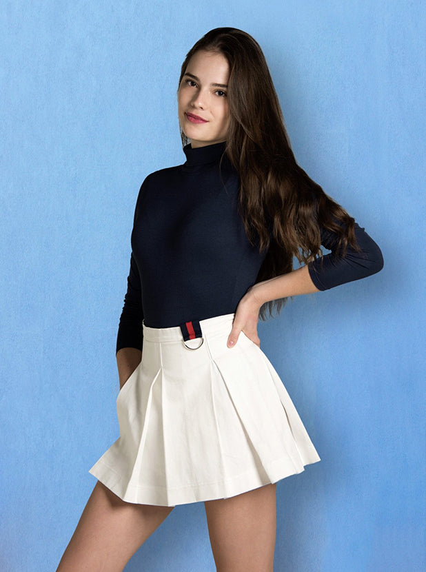 "Pleated ""Utility"" Skirt"