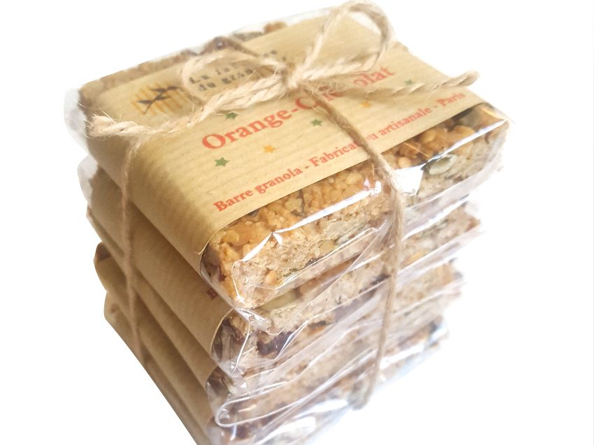 Barre de Granola Orange-Chocolat Bio en direct du producteur - La fabrique du Granolier