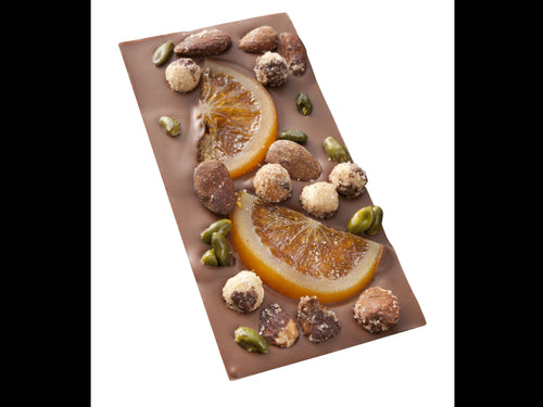 Tablette MENDIANT chocolat au lait et Fruits secs